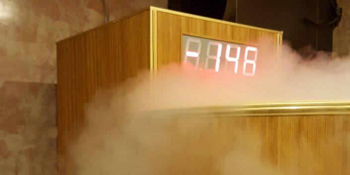 Jégszauna, krioszauna, jégterápia -146 celsius fokon.